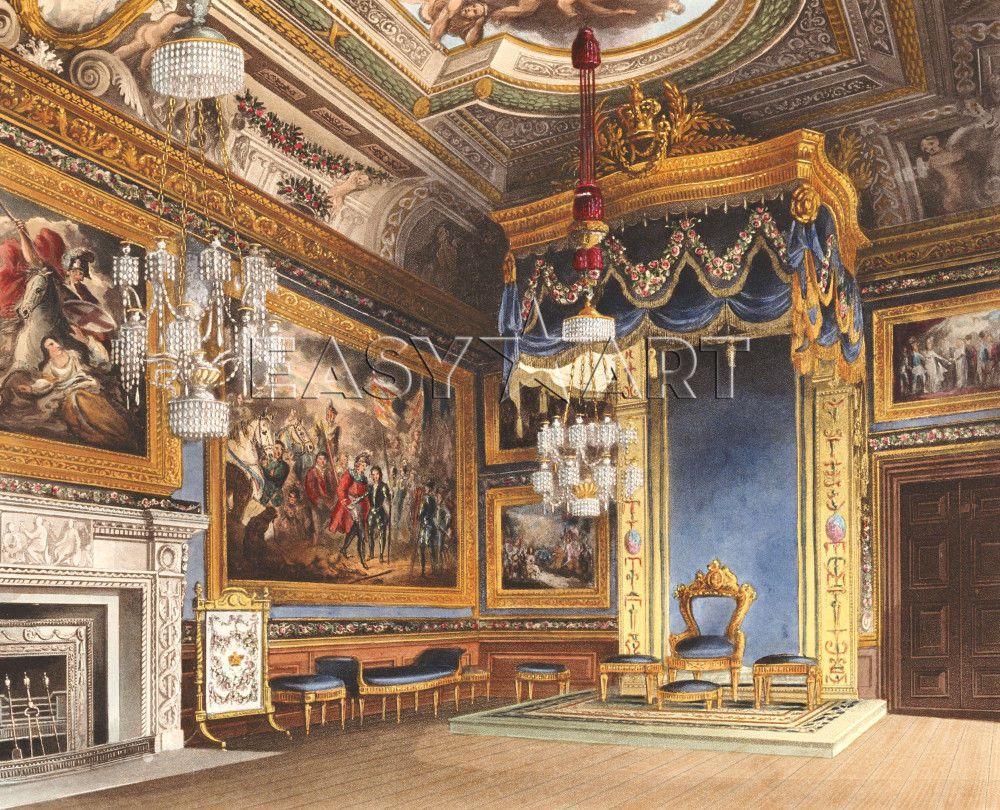 The King S Audience Chamber Windsor Castle 1819 Slott Byggnader