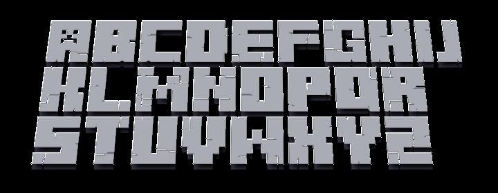 photograph relating to Free Printable Minecraft Letters known as Minecraft font Minecraft 3D Font Preview Minecraft Web site