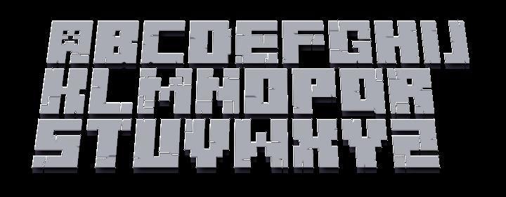 Minecraft font | Minecraft 3D Font Preview Minecraft Blog