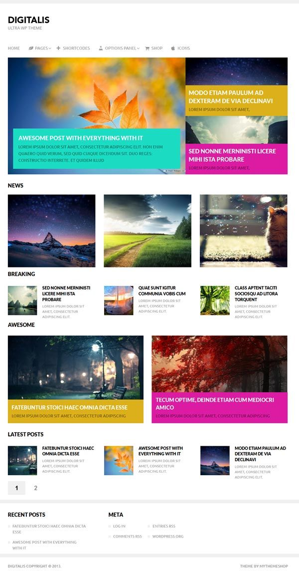Digitalis WordPress Theme Review - MyThemeShop