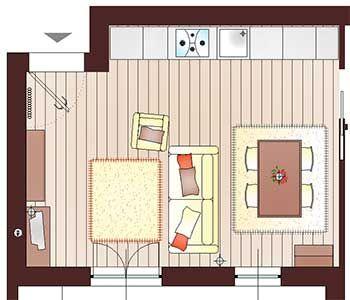 Open space arredare soggiorno idee cucina pinterest - Sala cucina 25 mq ...