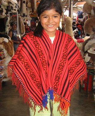 Roter #Poncho für Kinder von 2-5 Jahren, #Alpakawolle Einheitsgröße