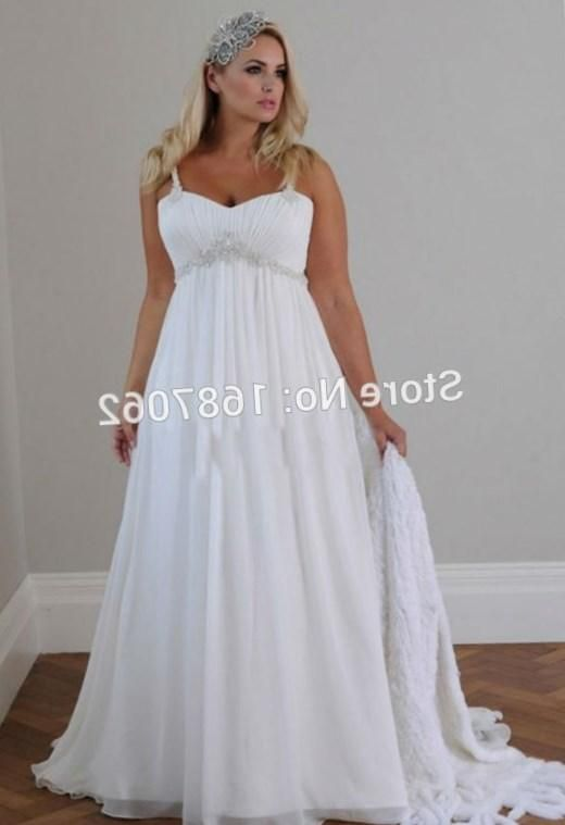 plus size beach wedding dresses spaghetti straps pleats chiffon