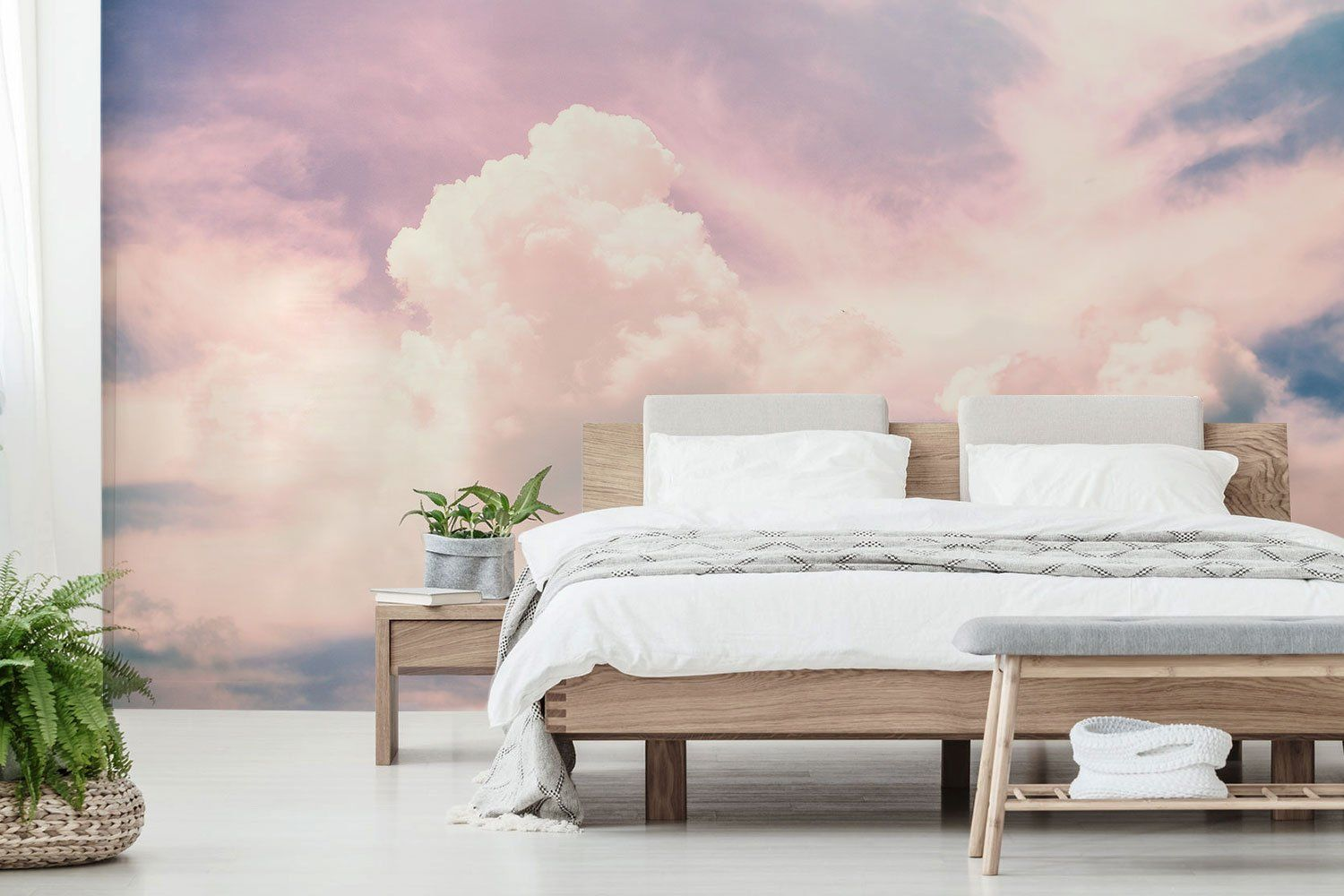 pink clouds wall mural in 2019 bedroom ideas bedroom on wall cloud id=86104