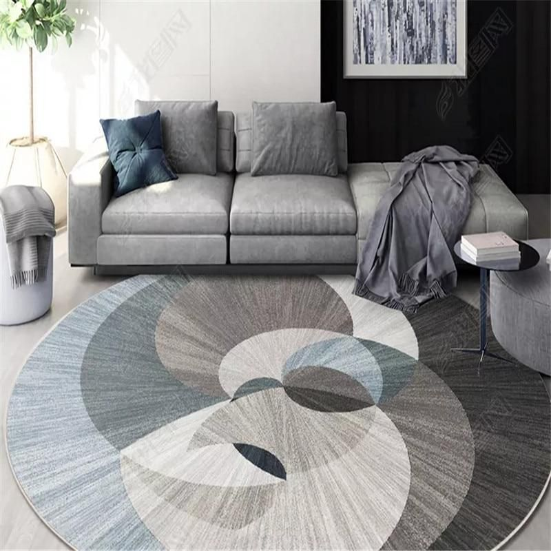 Nordic Geometric Round Carpets For Living Room Rug Big Size Decoration Office Hotel Home Carpet Round Carpet Living Room Rugs In Living Room Living Room Carpet
