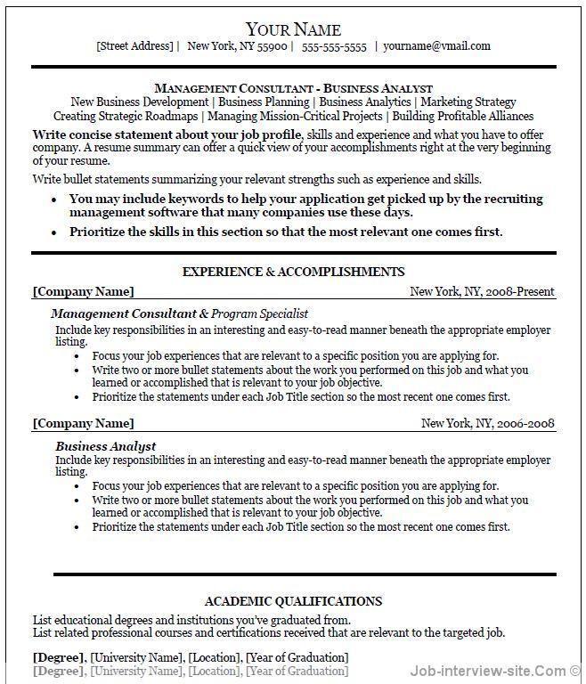 executive resume template word 64 Job resume template