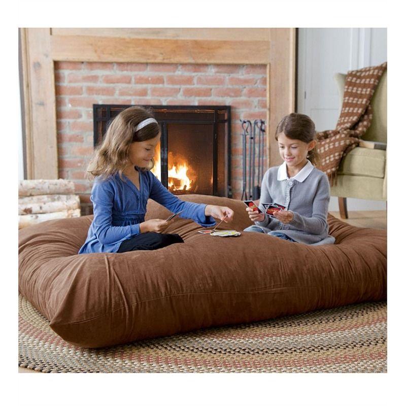 Versatile Oversized Floor Pillow   Pillows & Throws   Bed & bath ...