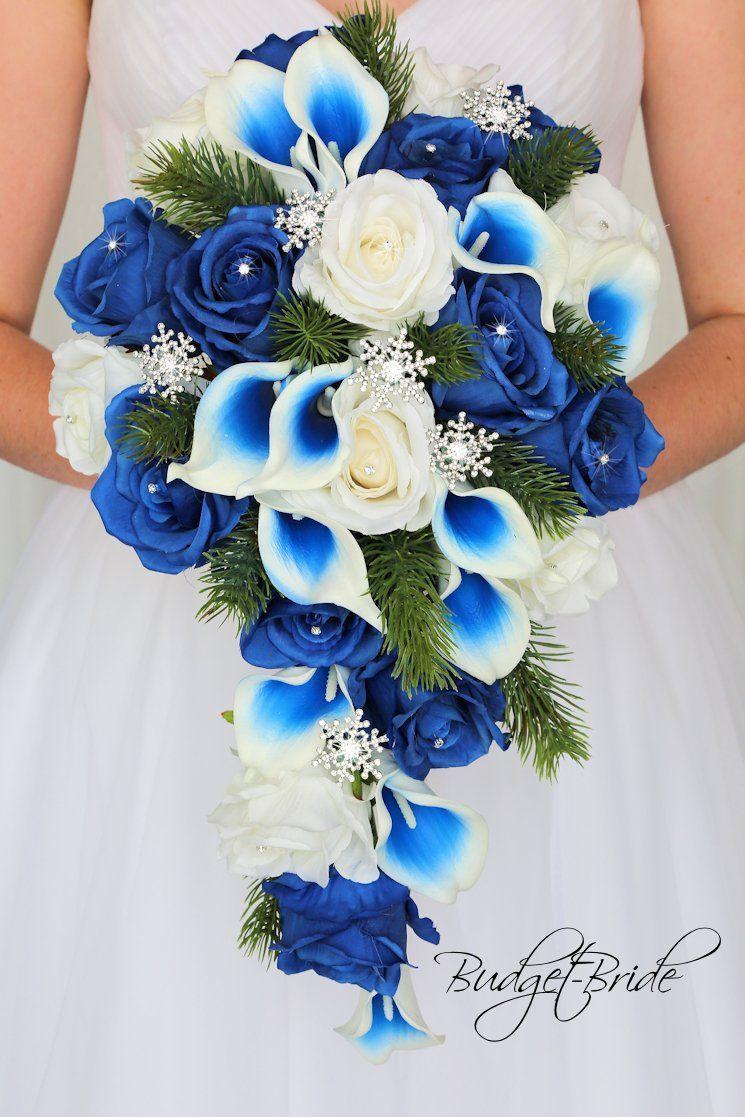 alternative bridal bouquet beach inspired wedding royal blue and silver gray seashell bouquet bridal beach bouquet Beach wedding bouquet