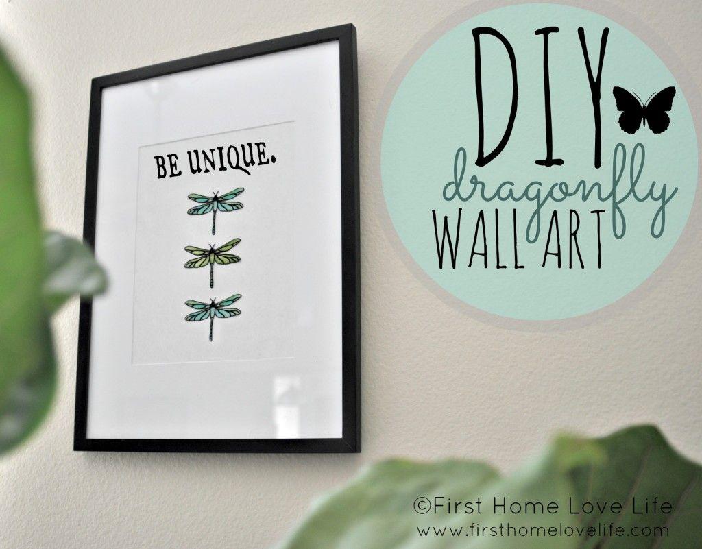 Dragonfly bathroom decor -  Diy Dragonfly Wall Art