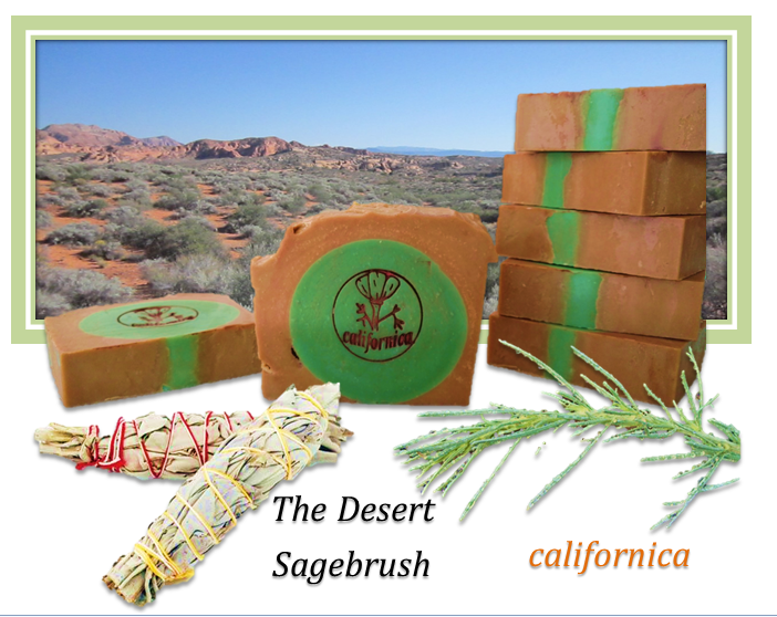 The Desert Sagebrush Soap made with sage and desert clay! Natural and handmade soap! #soap #handmade #sage #californica #sagebrush #desert #natural