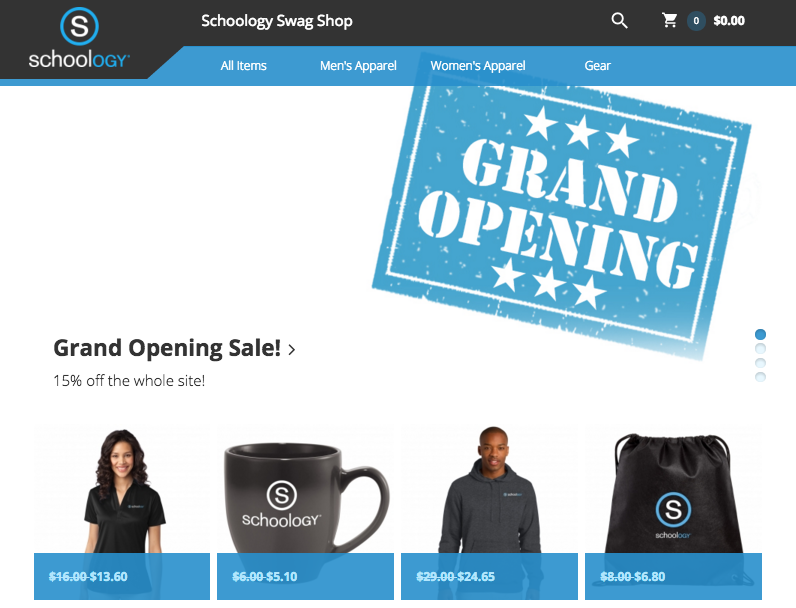 Strike Up the Band! The Schoology Swag Shop is Officially