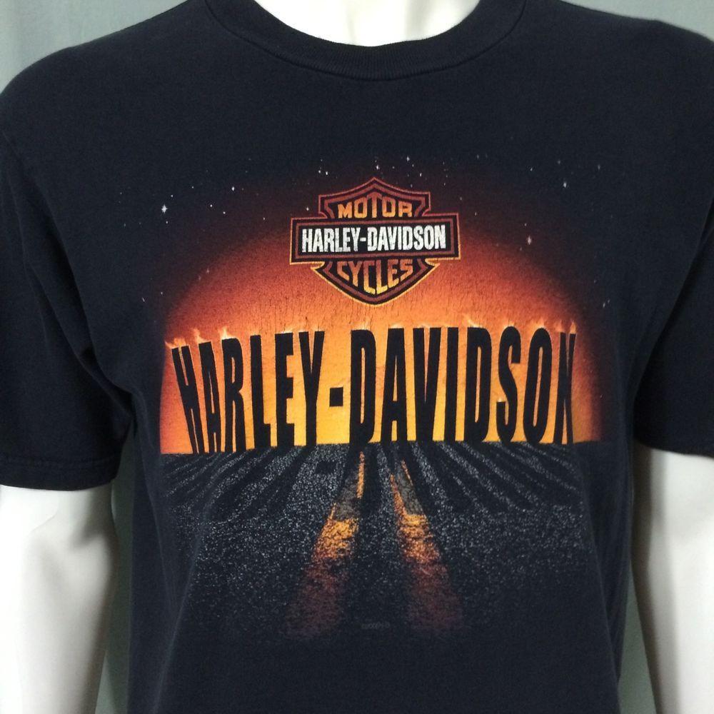 Harley Davidson Large T Shirt Motorcycles Daytona Beach Florida Bruce Rossmeyers Harleydavidson Graphictee