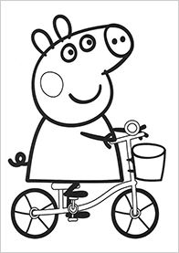 Peppa Pig Colouring Pages Not That This Really Counts As Craft