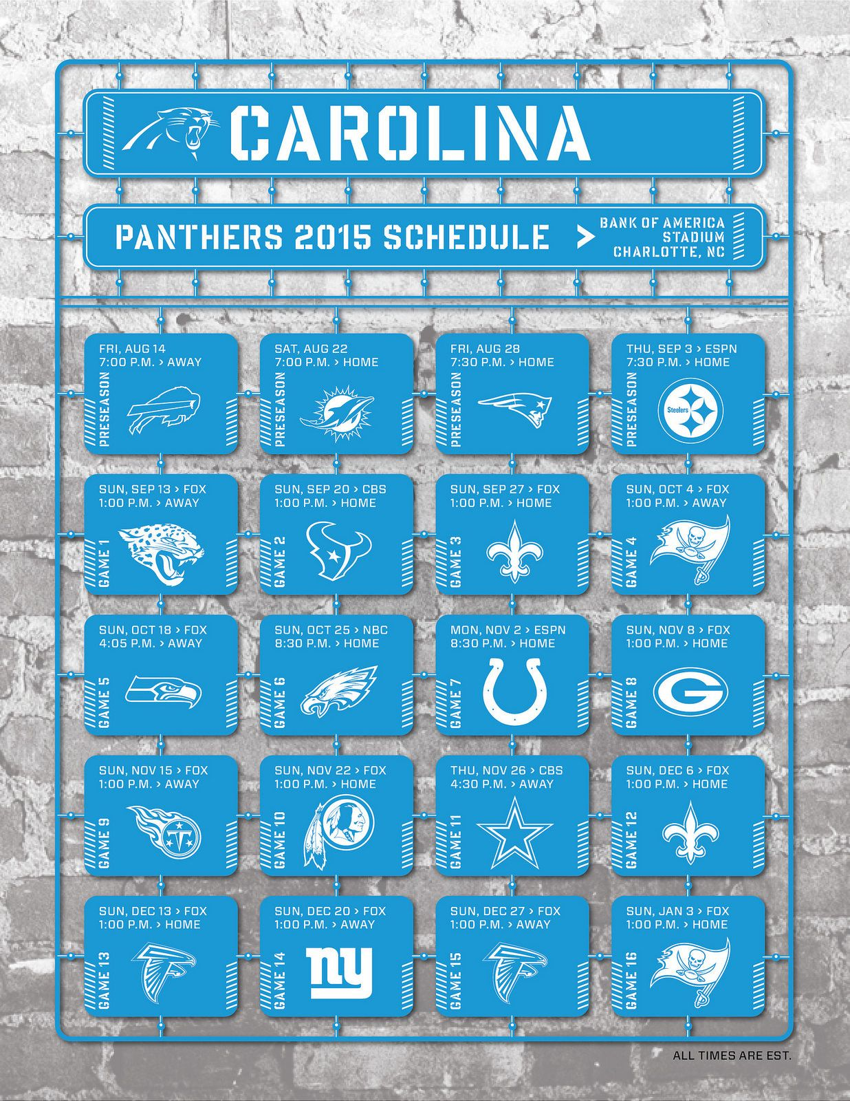 carolina panthers 2015 schedule | nfl football