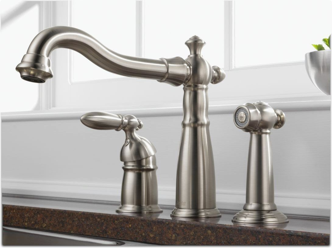 victorian single handle kitchen faucet with sprayer stainless steel rh pinterest co uk