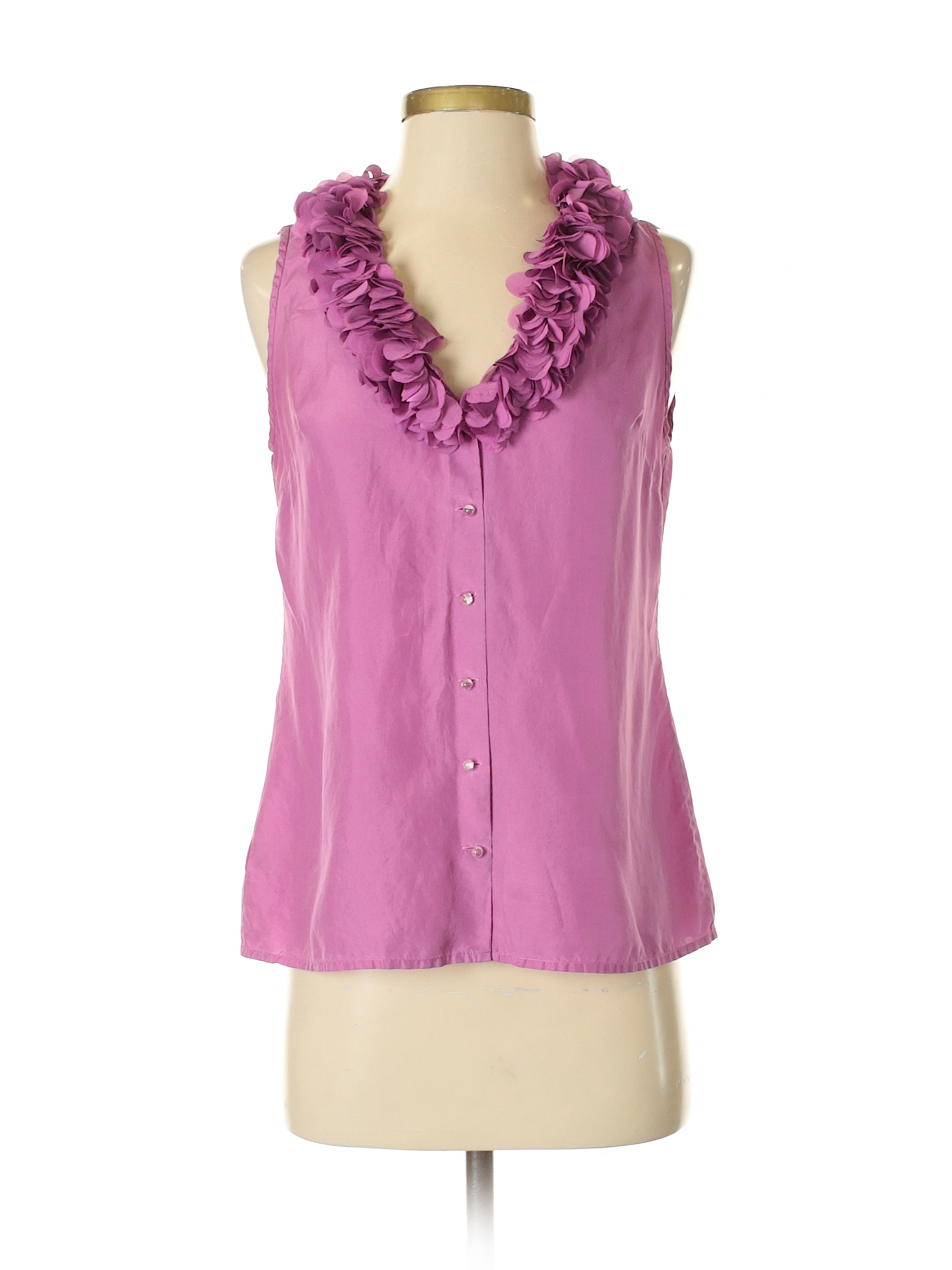 2c87ad7e34c68 Ann Taylor Sleeveless Silk Top  Purple Women s Tops - 32339138