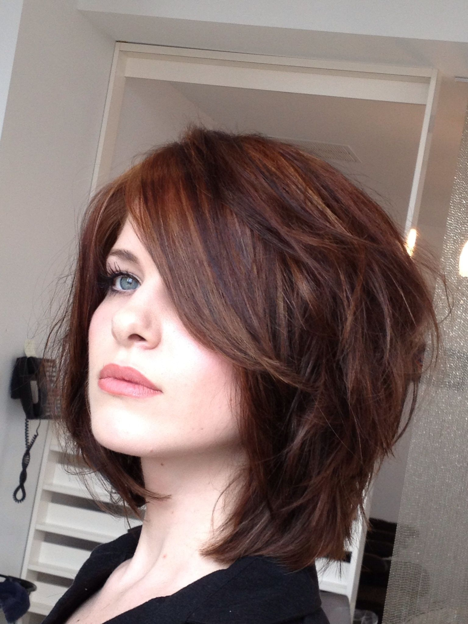 Pretty chopped bob  curly girl  Pinterest  Bobs Hair style and