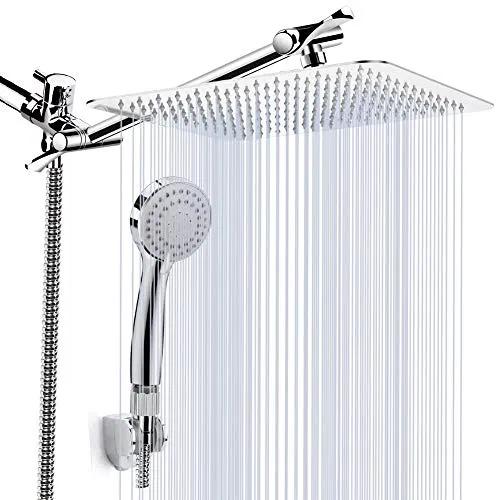 Kaqinu Shower Head 8 High Pressure Rainfall Shower Deals Furniturev Com Rainfall Shower Head Rainfall Shower Shower Heads