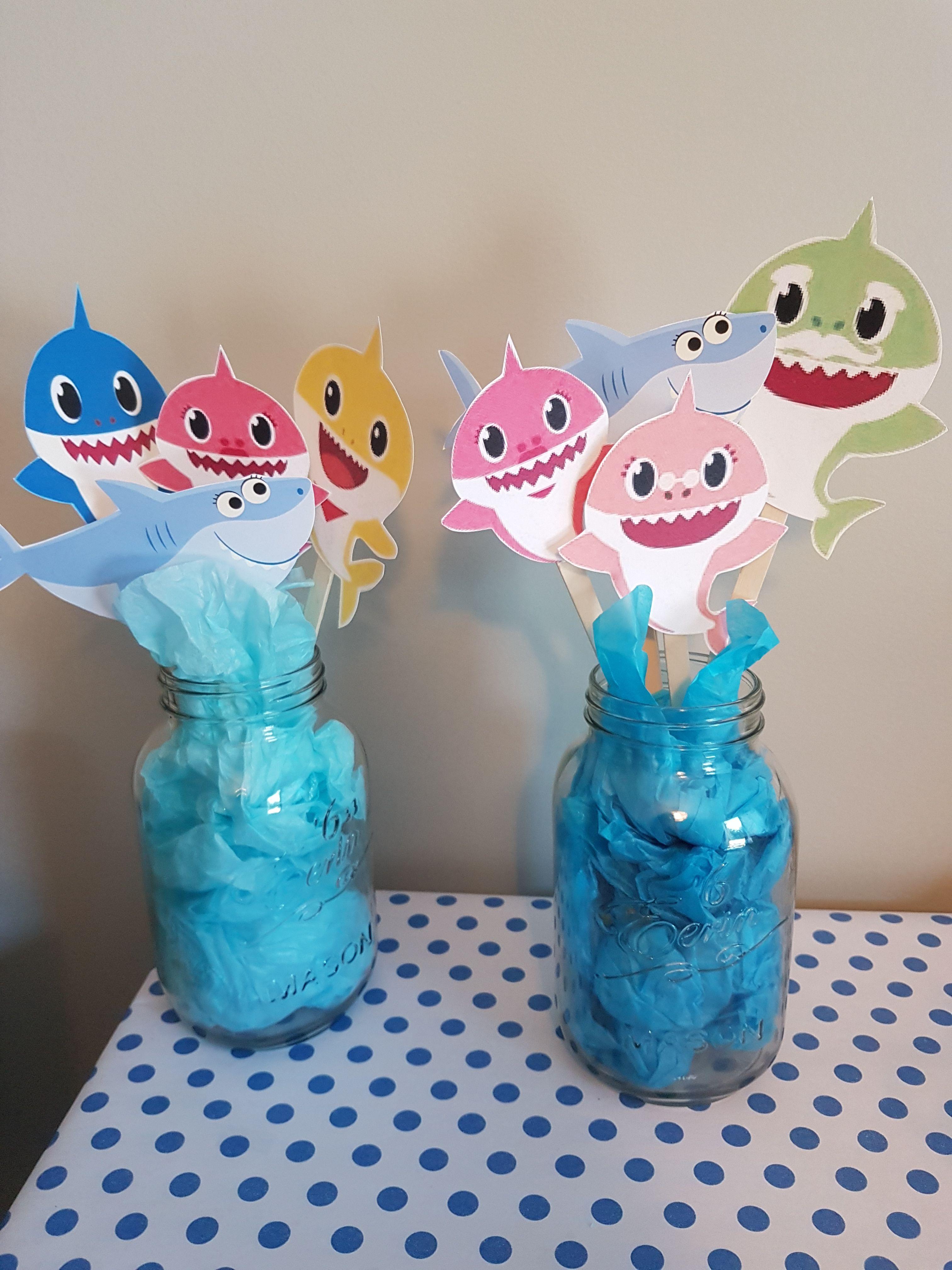 Baby Shark Party Diy Decor Shark Party Decorations Birthday Party Decorations Diy Diy Party Decorations