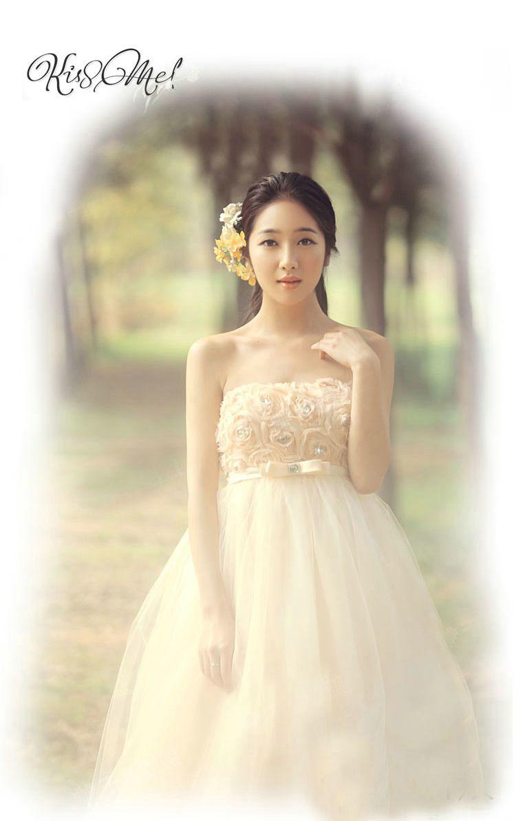 【楽天市場】豪華なウェディングドレス☆ロングドレス☆エンパイアライン☆ビスチェ