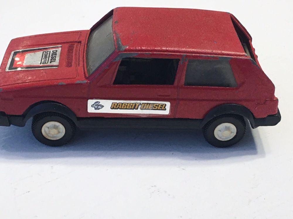 volkswagen rabbit vintage. tootsietoy vw rabbit vintage metal / plastic car toy tootsie used #3015 #tootsietoy volkswagen -