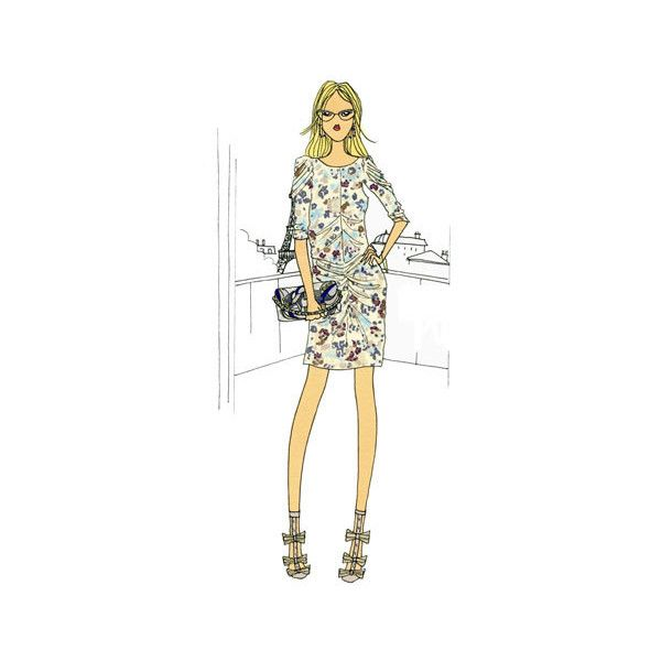 – Do it in Paris Fashion Guide ❤ liked on Polyvore featuring backgrounds, drawings, illustrations, models and people