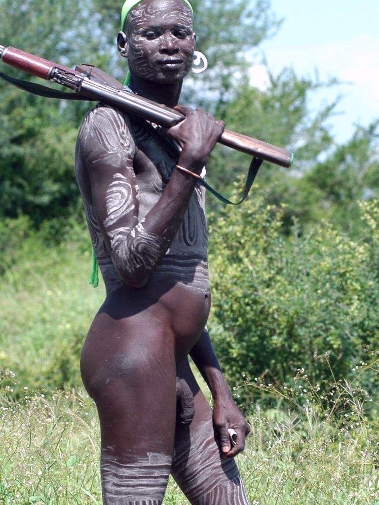 men nude african Native
