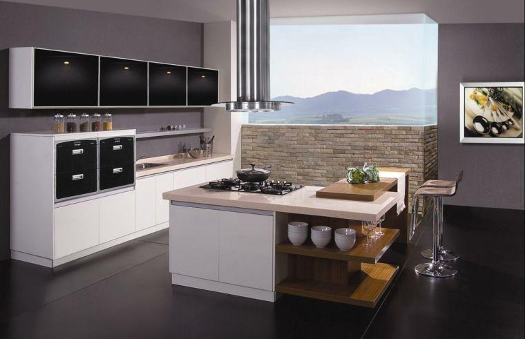 idea per arredare cucine moderne piccole, con isola a l ...