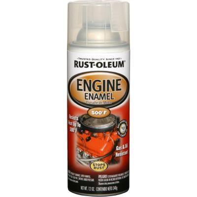 Rust Oleum Automotive 12 Oz Semi Gloss Clear Engine Enamel Spray Paint 6 Pack 248944 Enamel Spray Paint Rustoleum Specialty Paints
