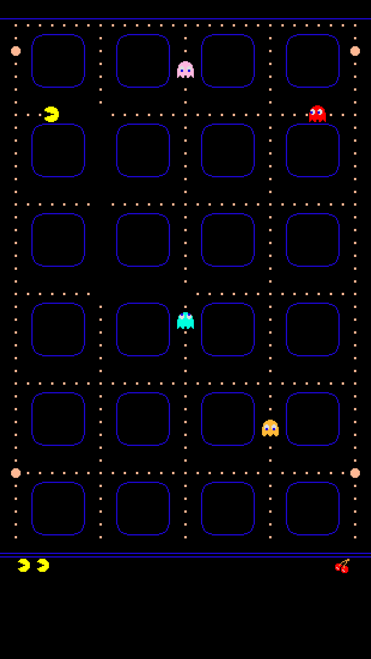 TAP AND GET THE FREE APP! Shelves Pac-Man Navy Blue Icons Games Geeks HD iPhone 6 plus Wallpaper ...