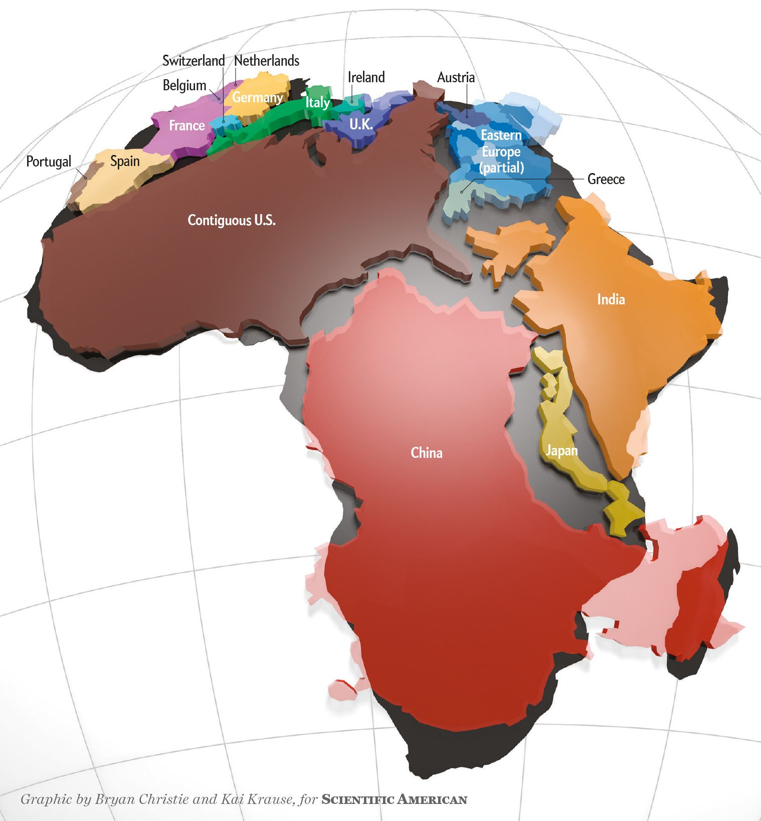 Realizing The True Size Of Africa Also Helps Us Appreciate How - Real map us in africa