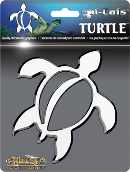 Chrome Cruiser Accessories 3D-Cals Turtle 3D Decal
