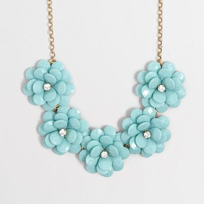 597f3357f0701d J.Crew Factory: Crystal floral burst necklace | like | Jewelry ...