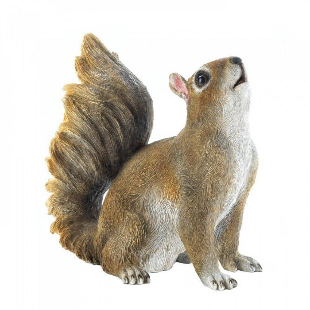 Set of Two Design Toscano Scamper and Chomper the Woodland Squirrel Statues