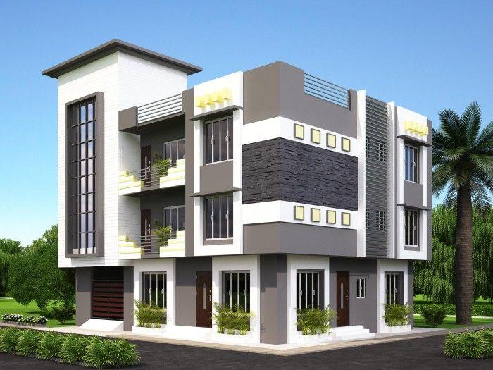 Front elevation 3d designed by ghar360 fachadas for Indian kothi front design