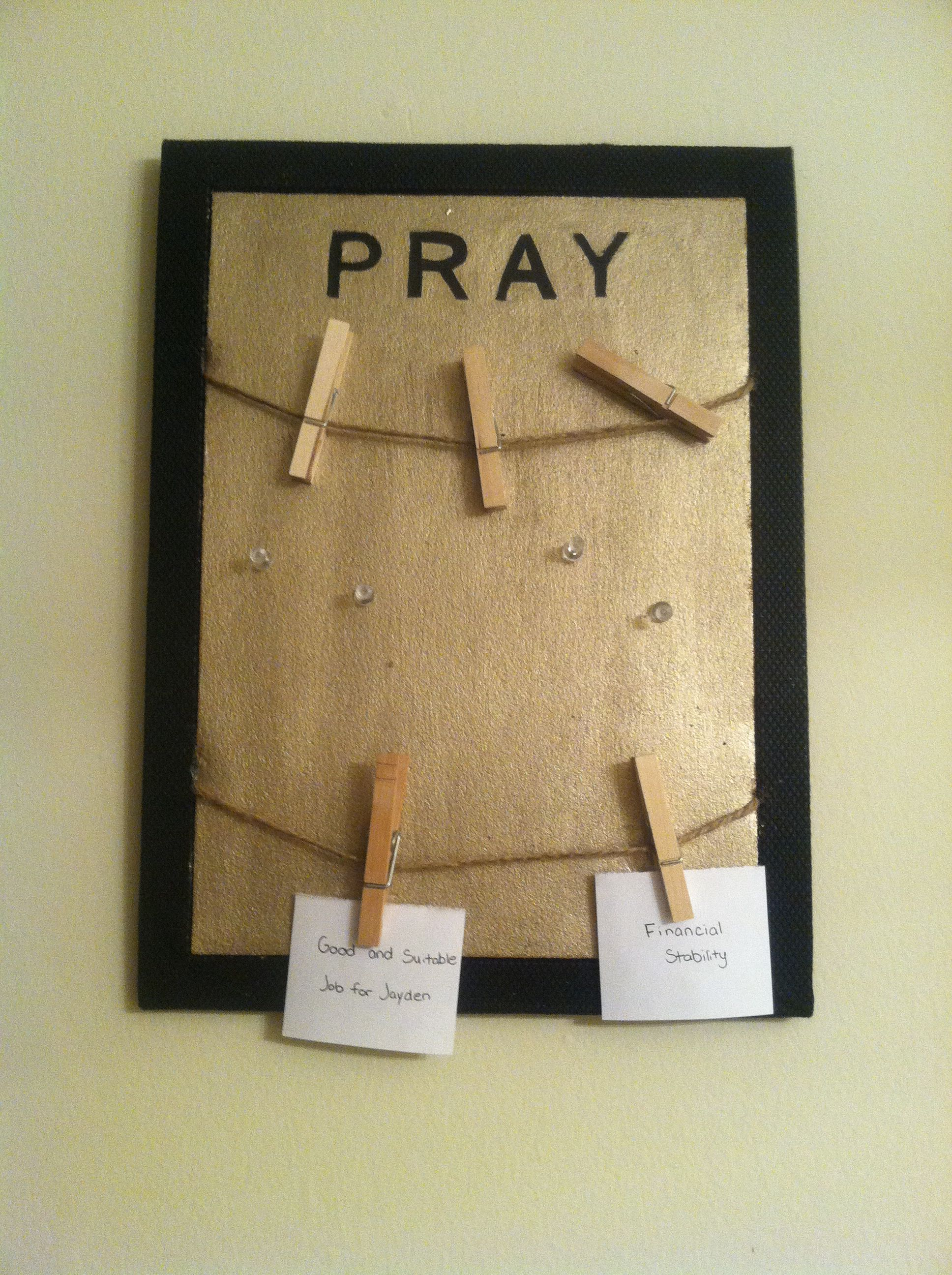 Personal Prayer Board for at home | DIY | Awesome Idea!! | art ...