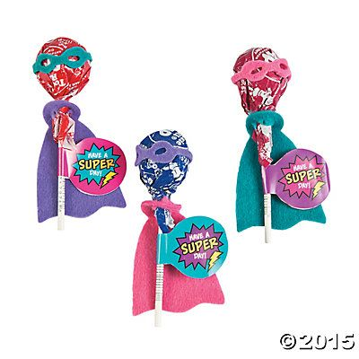 Superhero Girl Lollipop Craft Kit Craft Kits Oriental Trading And
