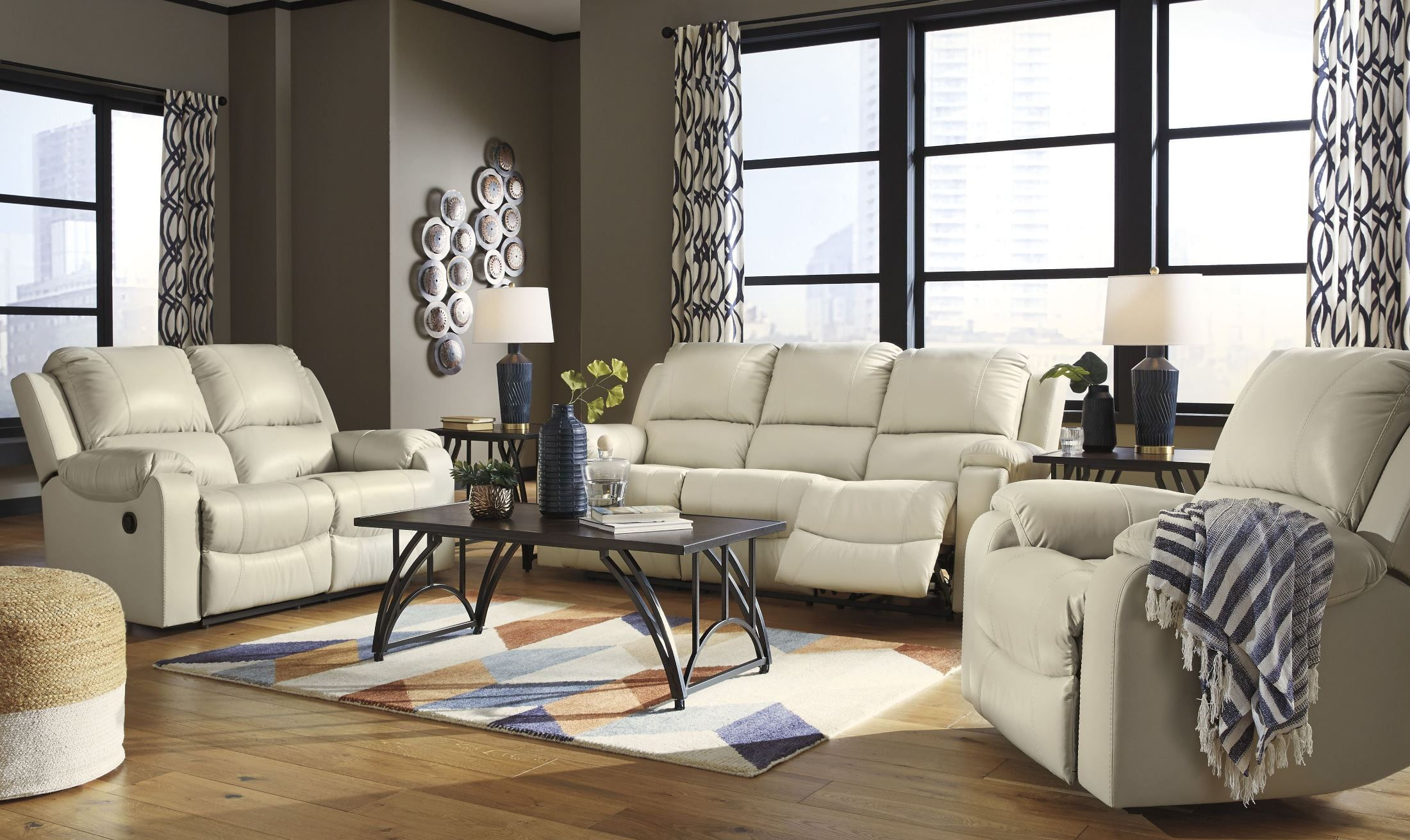 Harleson Wheat Living Room Set In 2020 Leather Couches Living Room Furniture Reclining Sofa