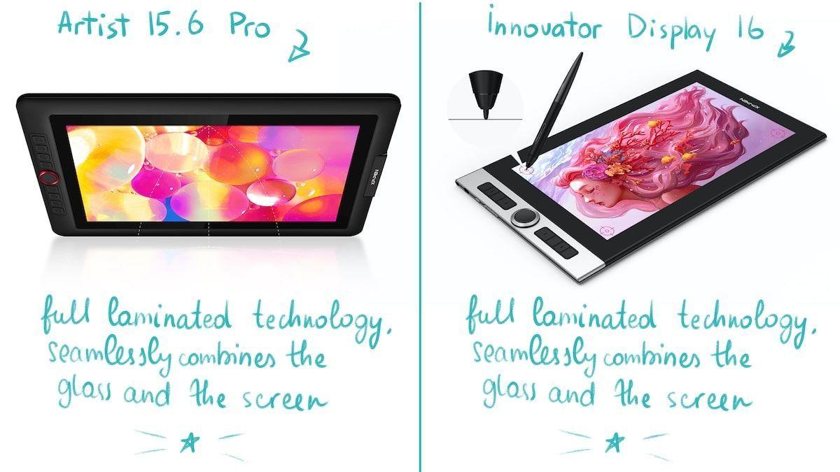 Xp pen innovator 16 review vs artist 156 pro comparison