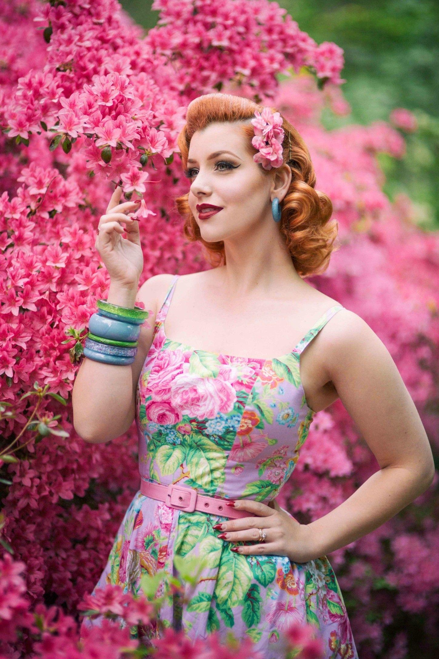 Swing dresses vintage style dress floral dress pinup
