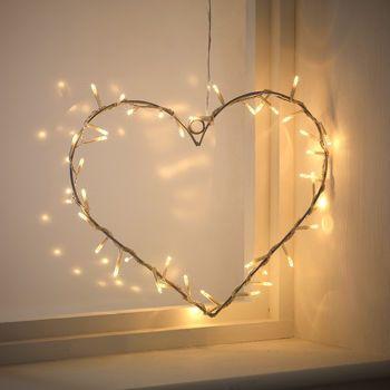 lowest price 8396c 77eee Heart Fairy Light Wreath | Home decor | Lighted wreaths ...