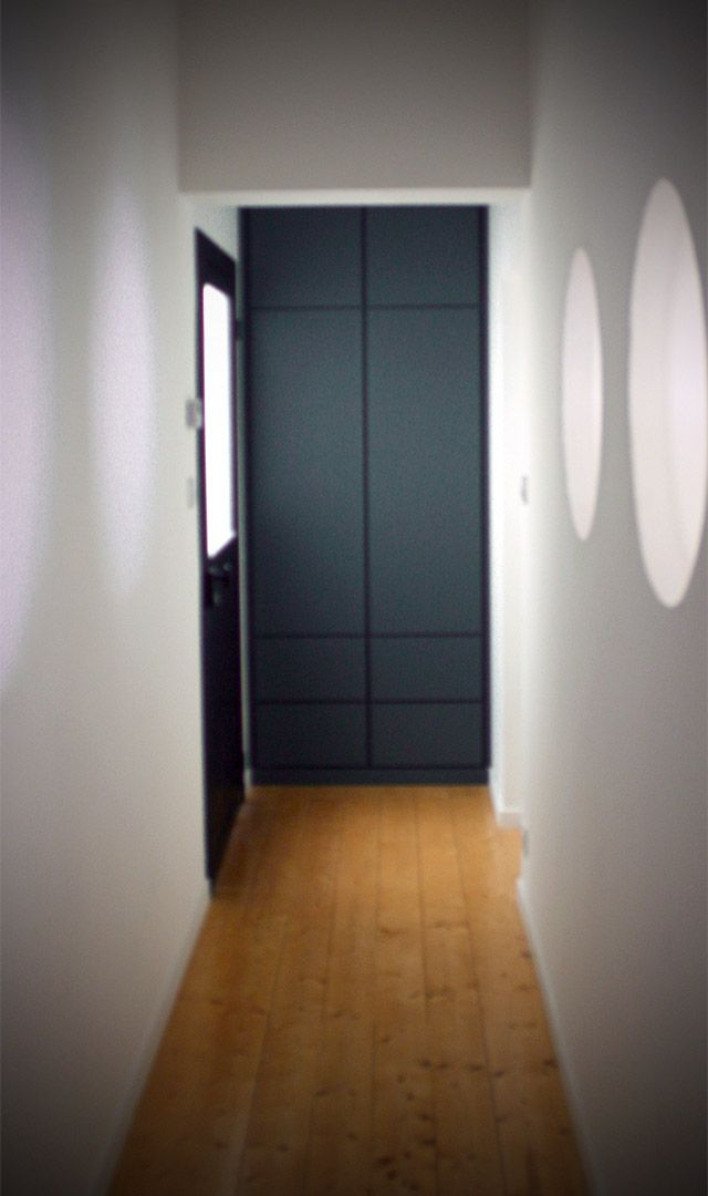 Placard d\u0027entrée en MDF laqué anthracite ⒸAtelier bois Création - Porte De Placard Chambre