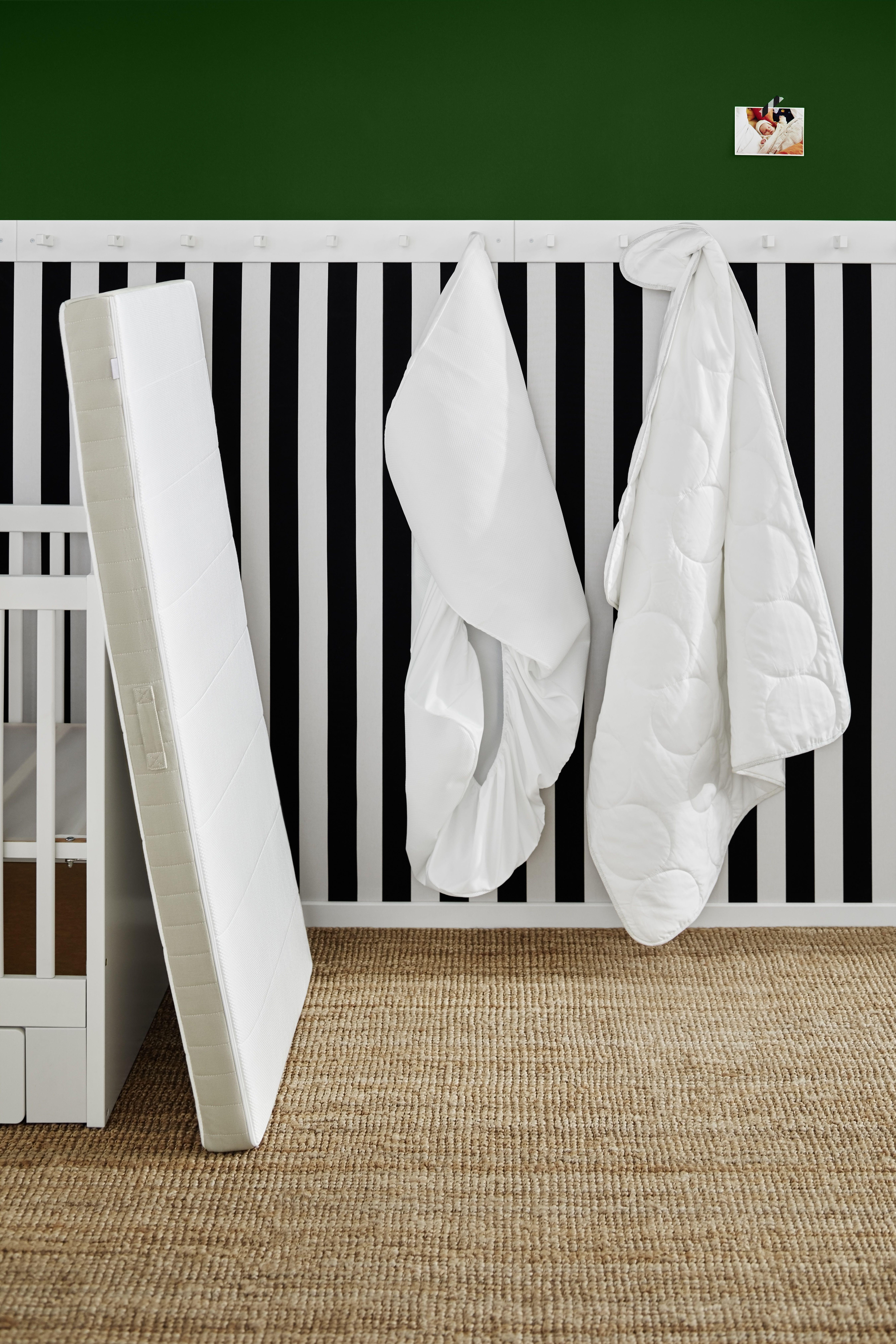 LENAST Decke für Babybett weiß, grau IKEA Deutschland