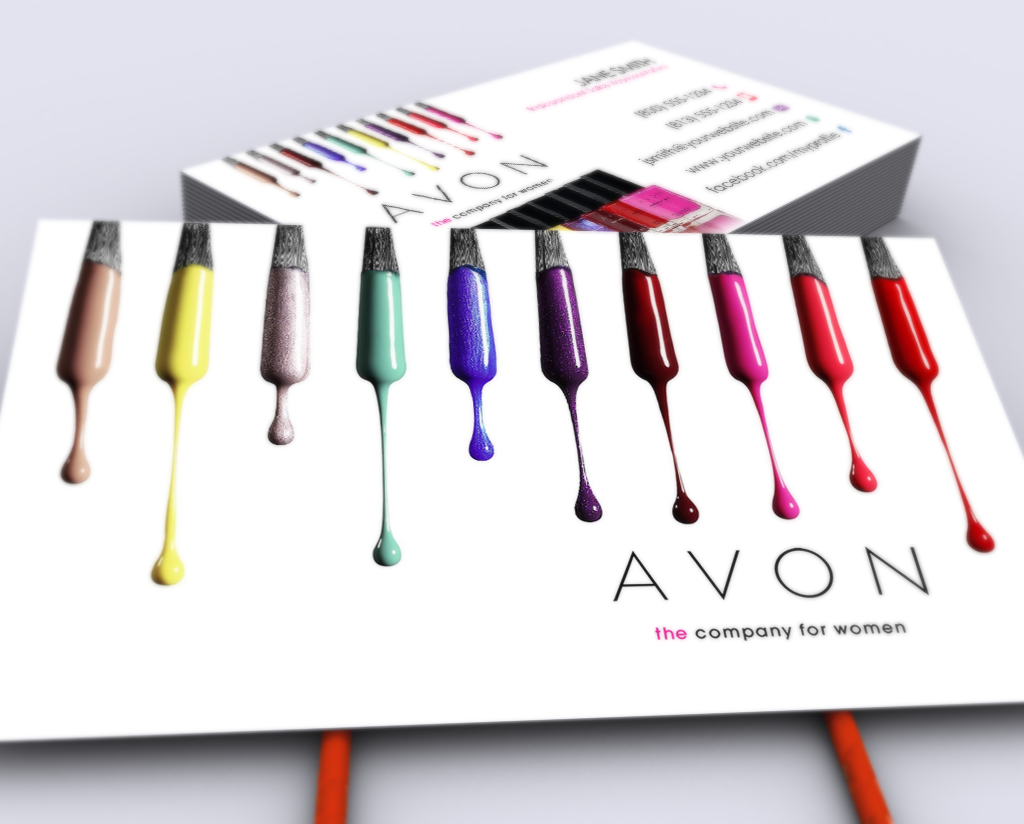 Pin On Avon Business Cards