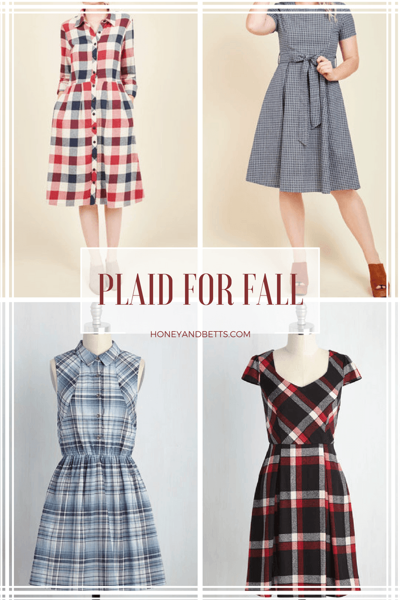 Plaid A-Line Dresses For Fall  Flattering Dresses With A Bold