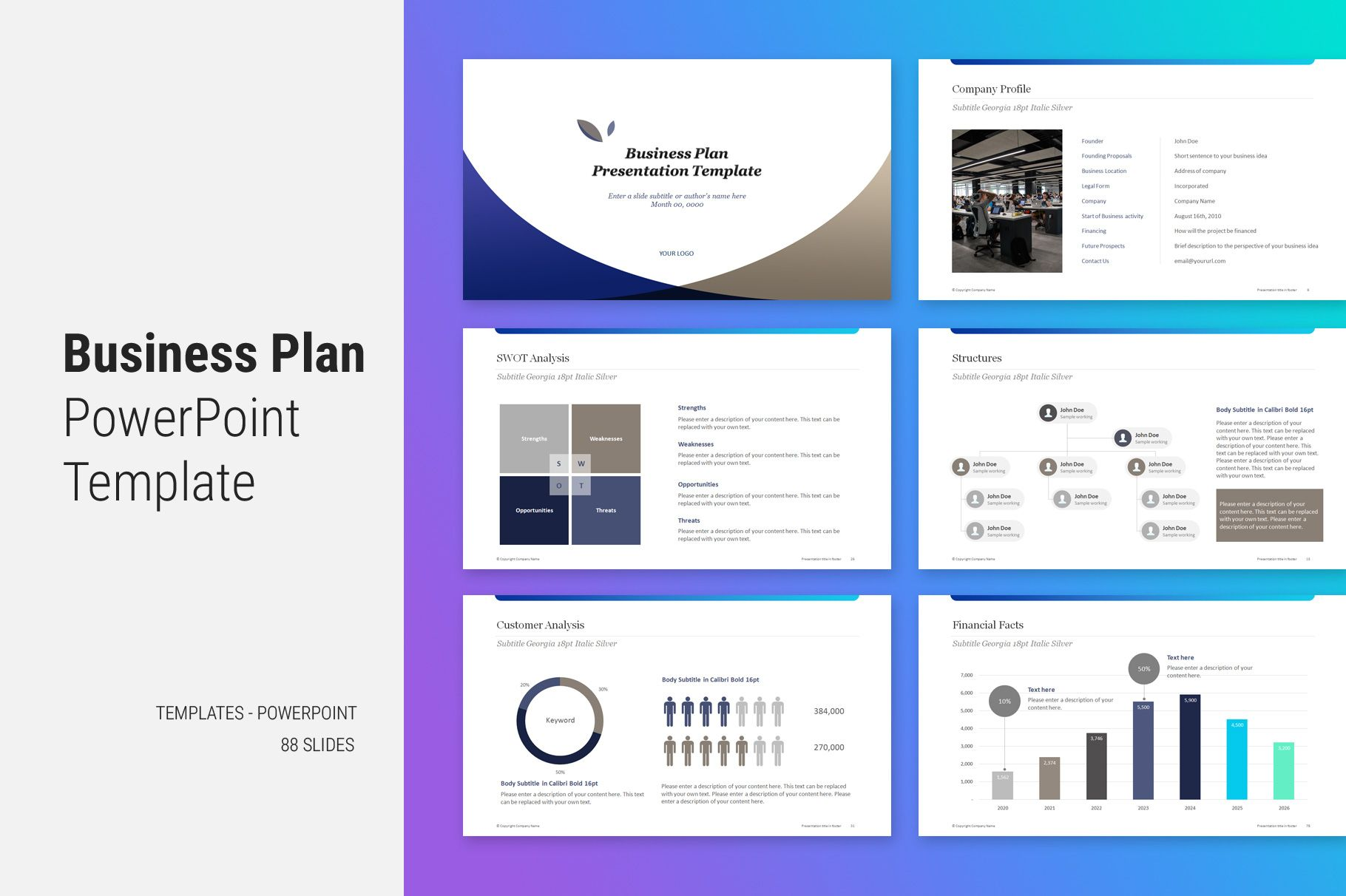 Business Plan PowerPoint Template Business plan template
