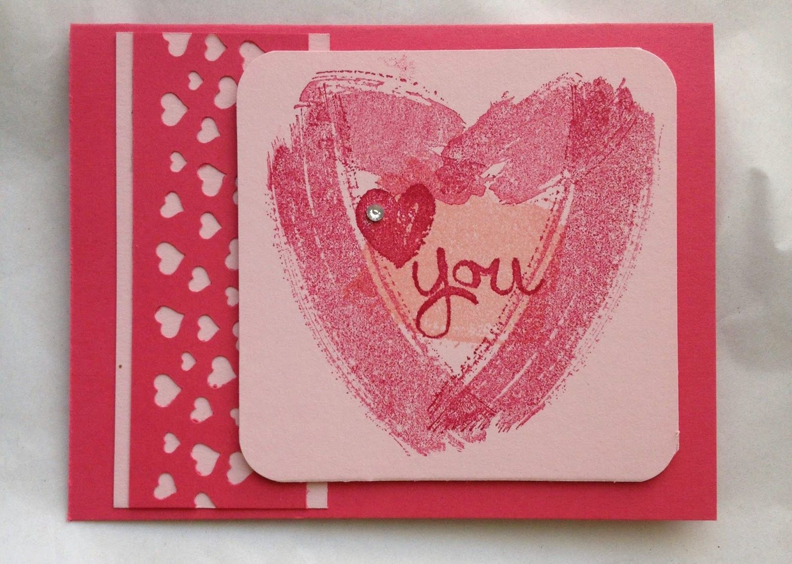 Love Card Making Ideas Part - 31: Work Of Art Confetti Heart Valentine | Midnight Crafting Valentineu0027s Day  Stampinu0027 Up! Cardmaking