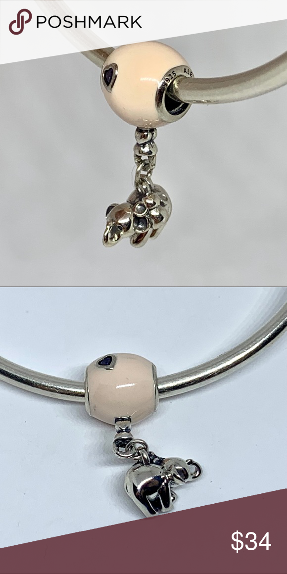 Elephant & Pink Balloon Dangle Charm This adorable and highly ...