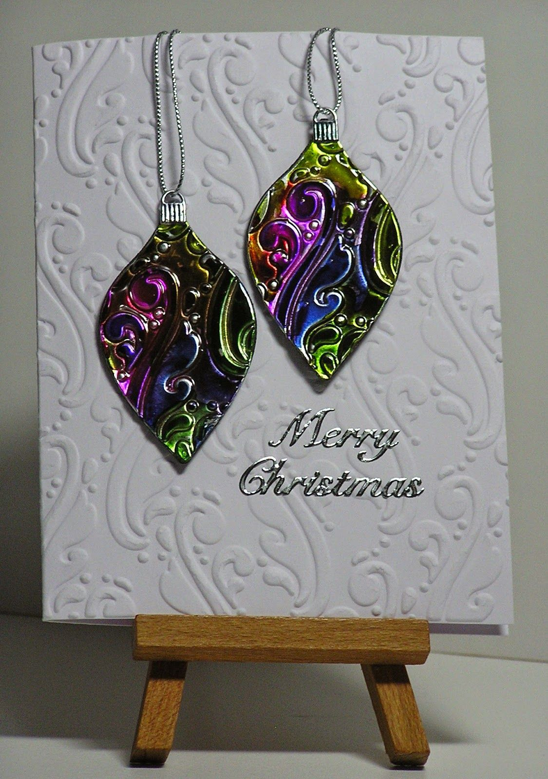 Playing With Alcohol Inks Diecut An Ornament Base Out Of