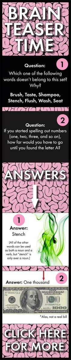 Brain Teasers Vol  1  U2013 Logic  Word Sense  Puzzles  Lateral Thinking  U2013 Fun Stuff